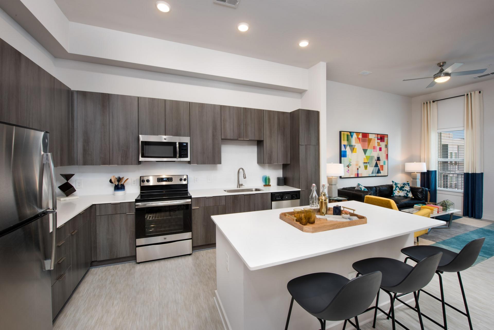 Kitchen at Spectrum on Spring Apartment
