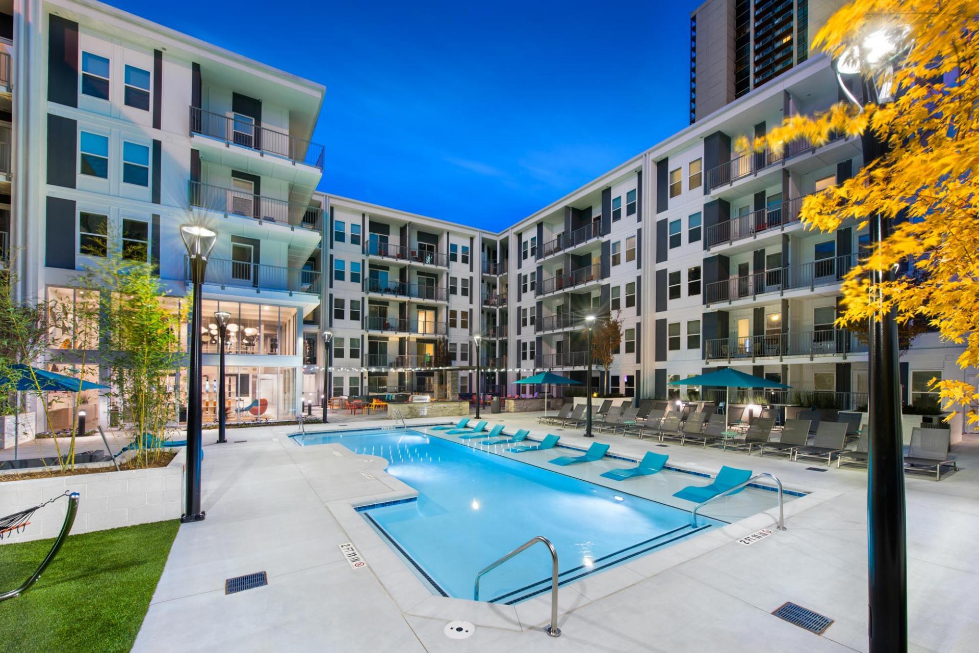 Pool at Spectrum on Spring Apartment