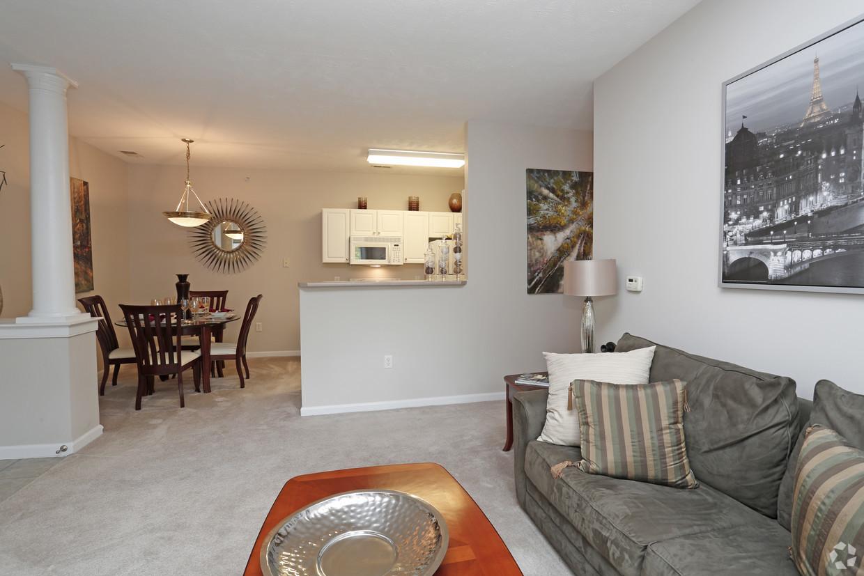 Spacious living area at Ventana Hills Apartment