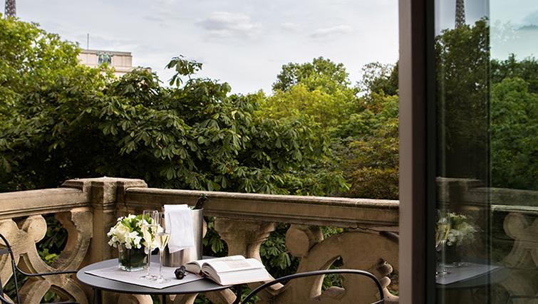 Balcony at La Reserve Paris Apartments