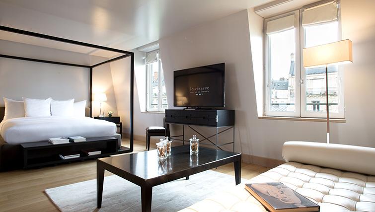 Bedroom at La Reserve Paris Apartments