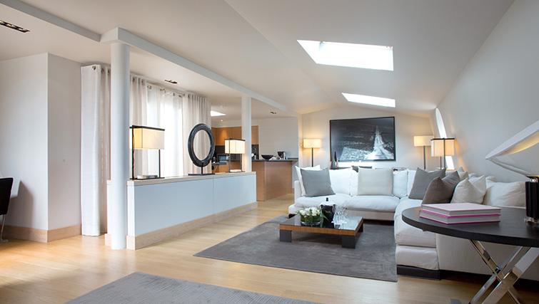 Living room at La Reserve Paris Apartments