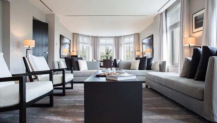 Stylish living room at La Reserve Paris Apartments