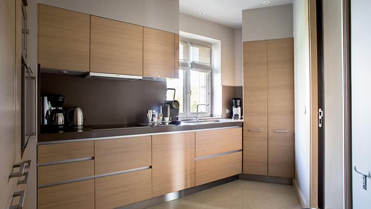 Kitchen at La Reserve Paris Apartments