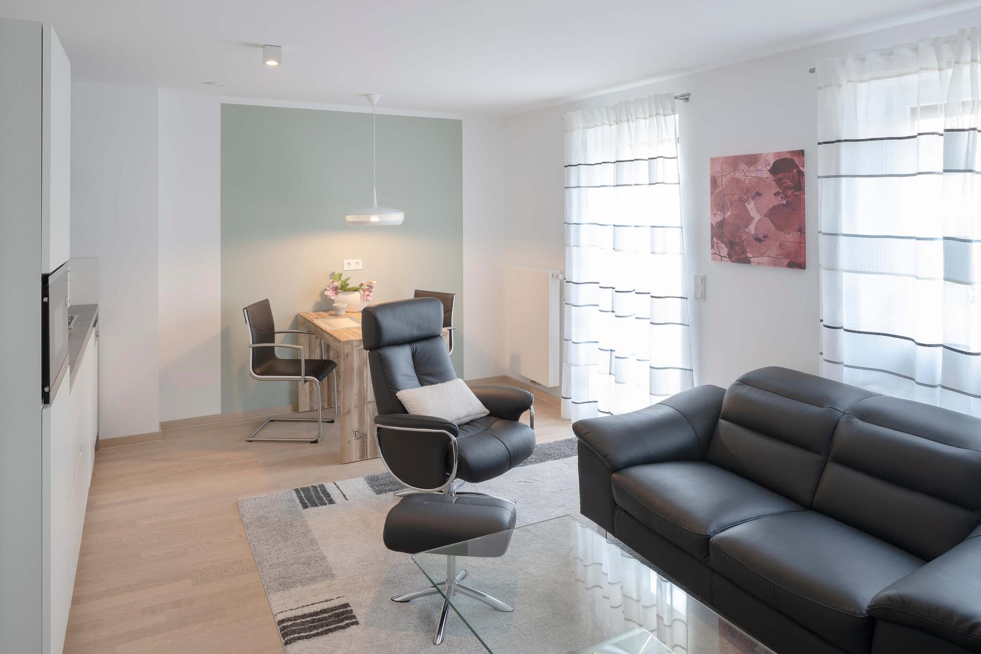 Living area at Westend Apartments