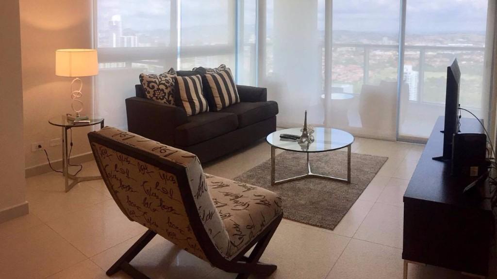 Living room at Ristretto Apartment, Costa Del Este, Panama City