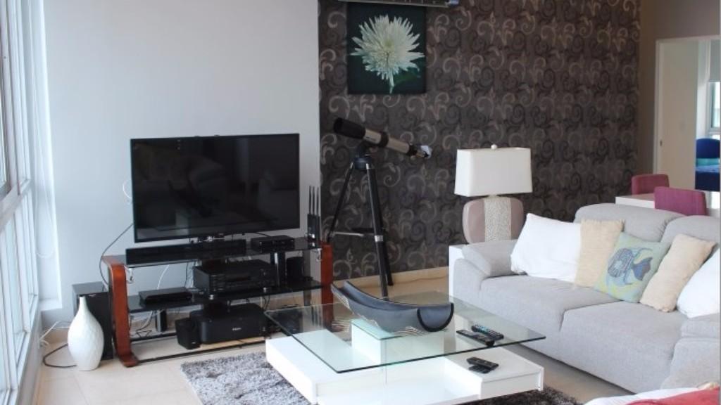 Living room at Caramelo Apartment, Campo Alegre, Panama City