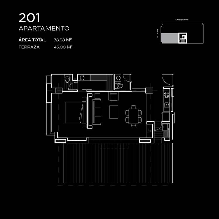 Floorplan at Attik Apartments