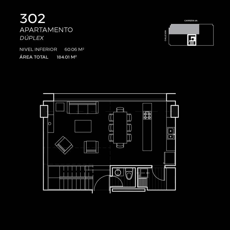 Floorplan 3 at Attik Apartments