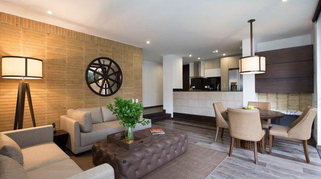 Living room at Attik Apartments