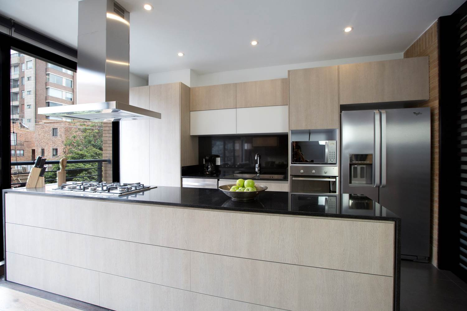 Sleek kitchen at Attik Apartments