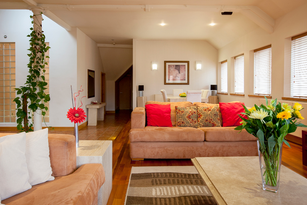 Living room at Pilcher Gate Serviced Apartments