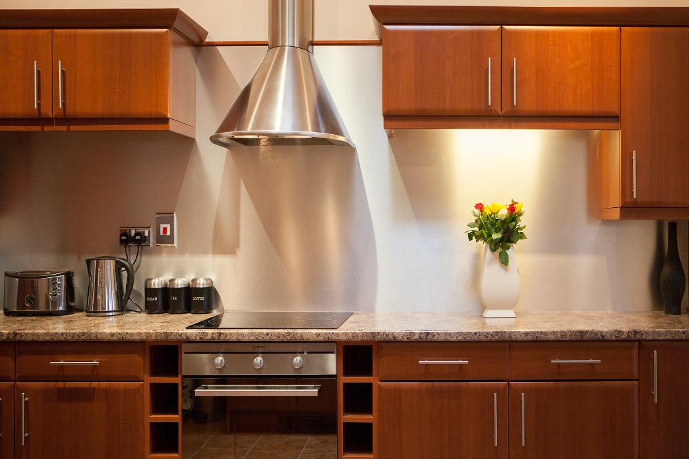 Kitchen at Pilcher Gate Serviced Apartments