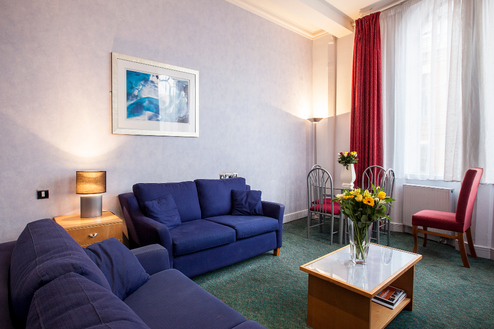Sofa at Pilcher Gate Serviced Apartments