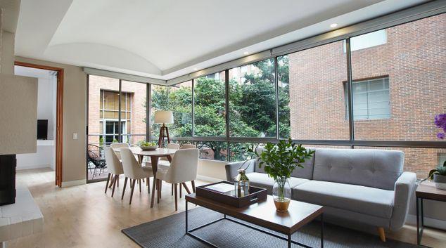 Living room at Soho93 Apartments