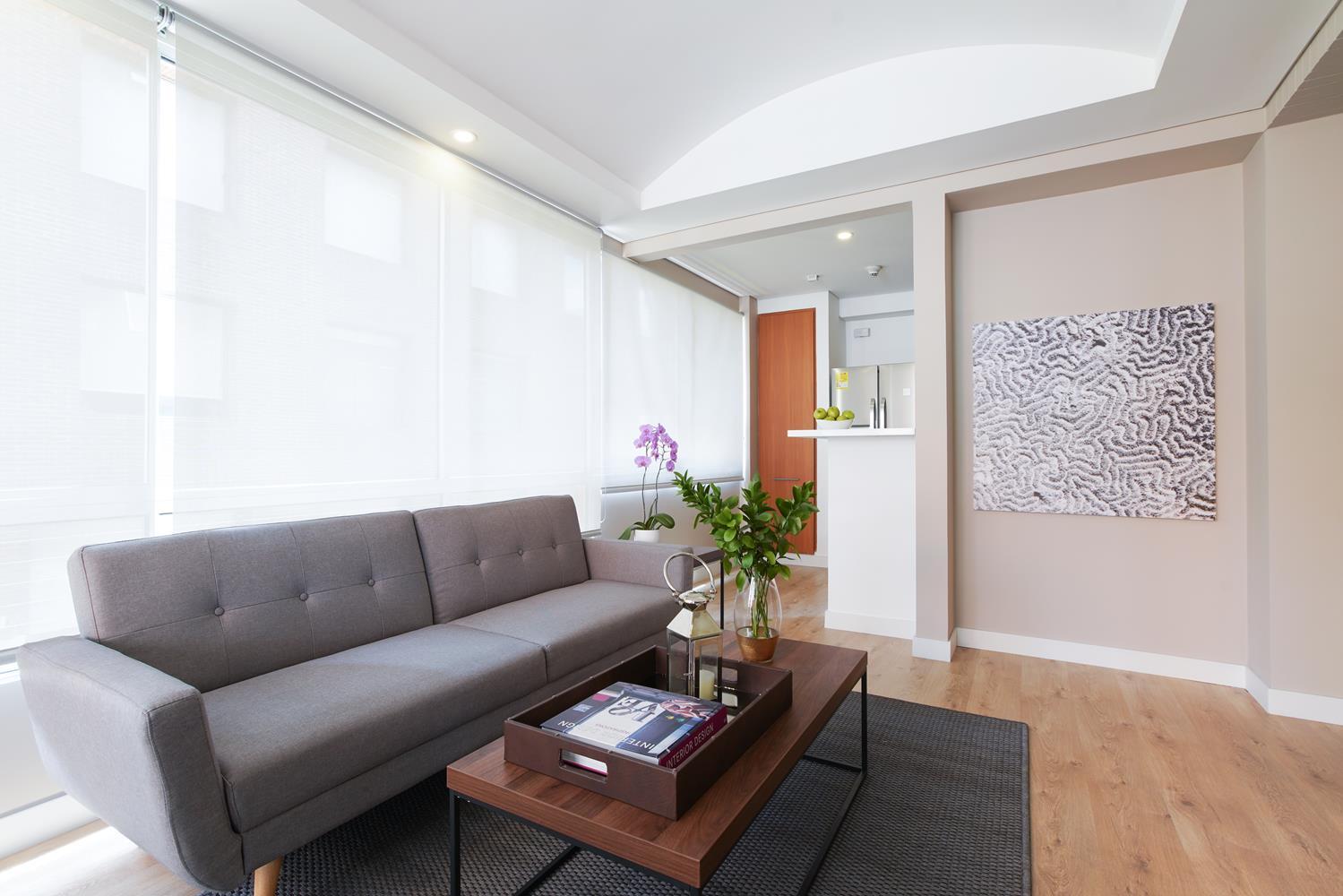 Sofa at Soho93 Apartments