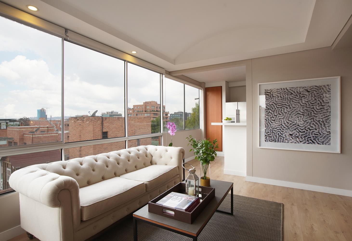 Bright living room at Soho93 Apartments