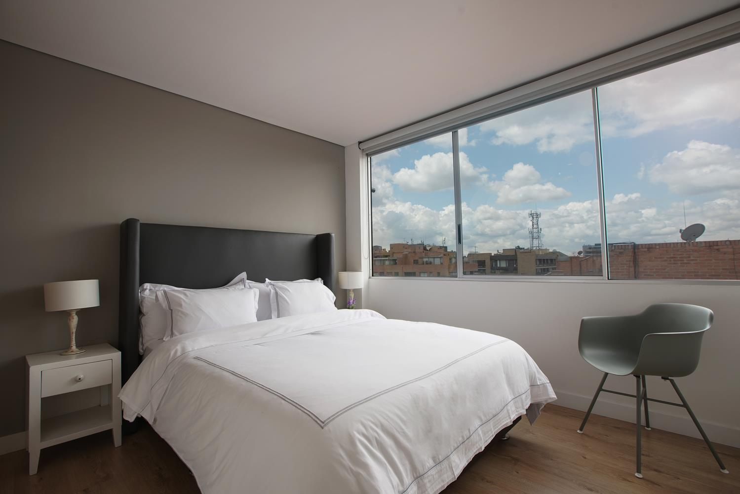 Comfortable bed at Soho93 Apartments