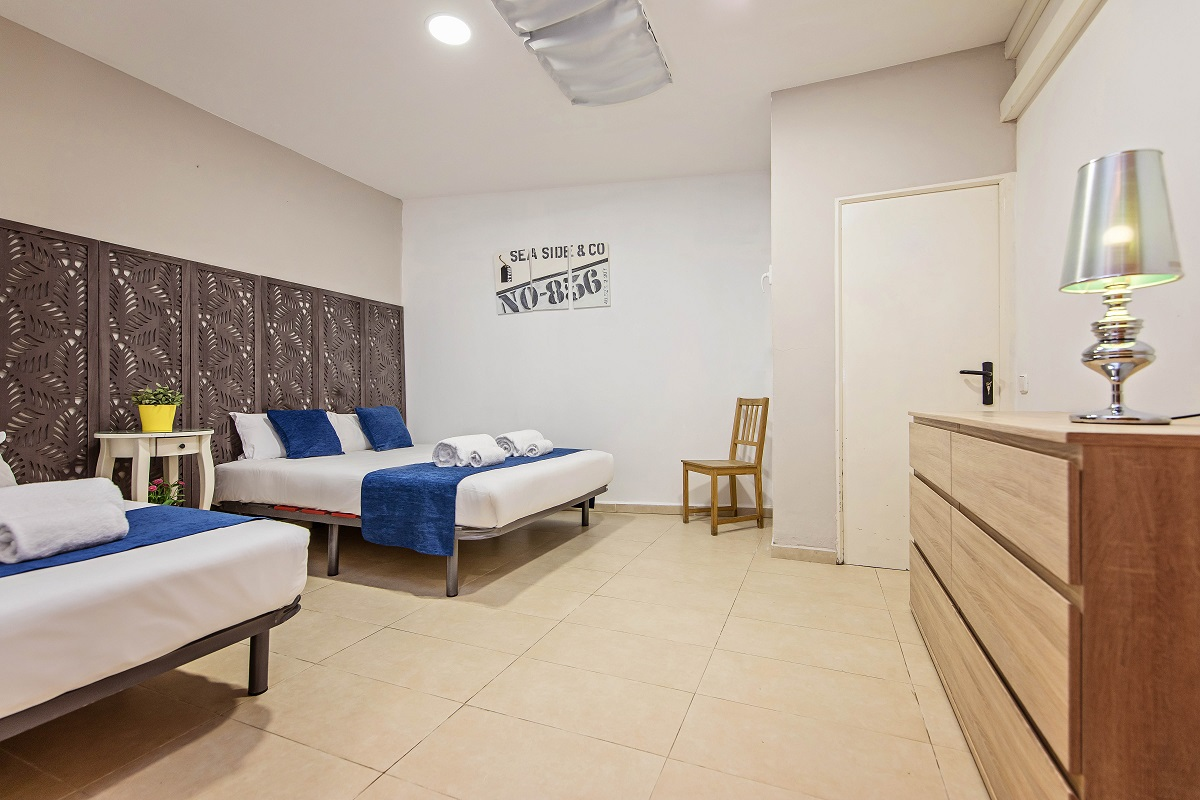 Double beds at Font Apartment