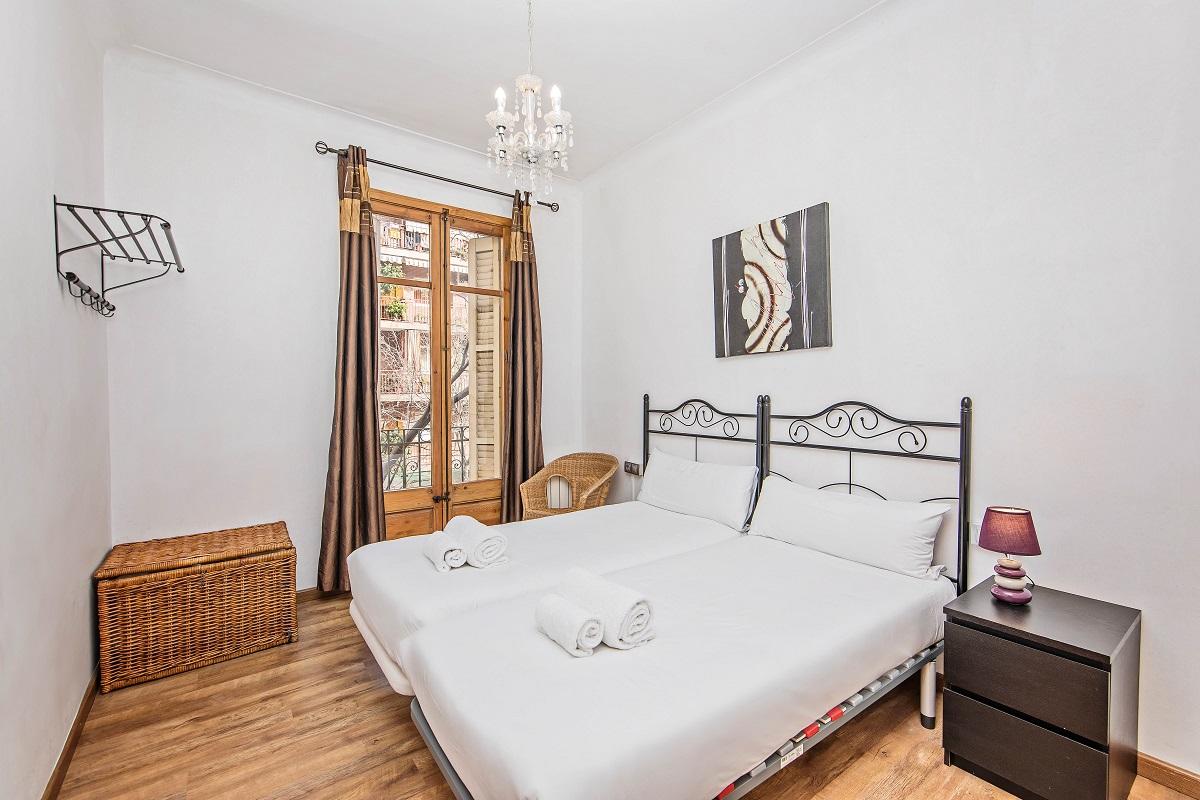 Bedroom at Joan Miro Apartment, Sant Antoni, Barcelona