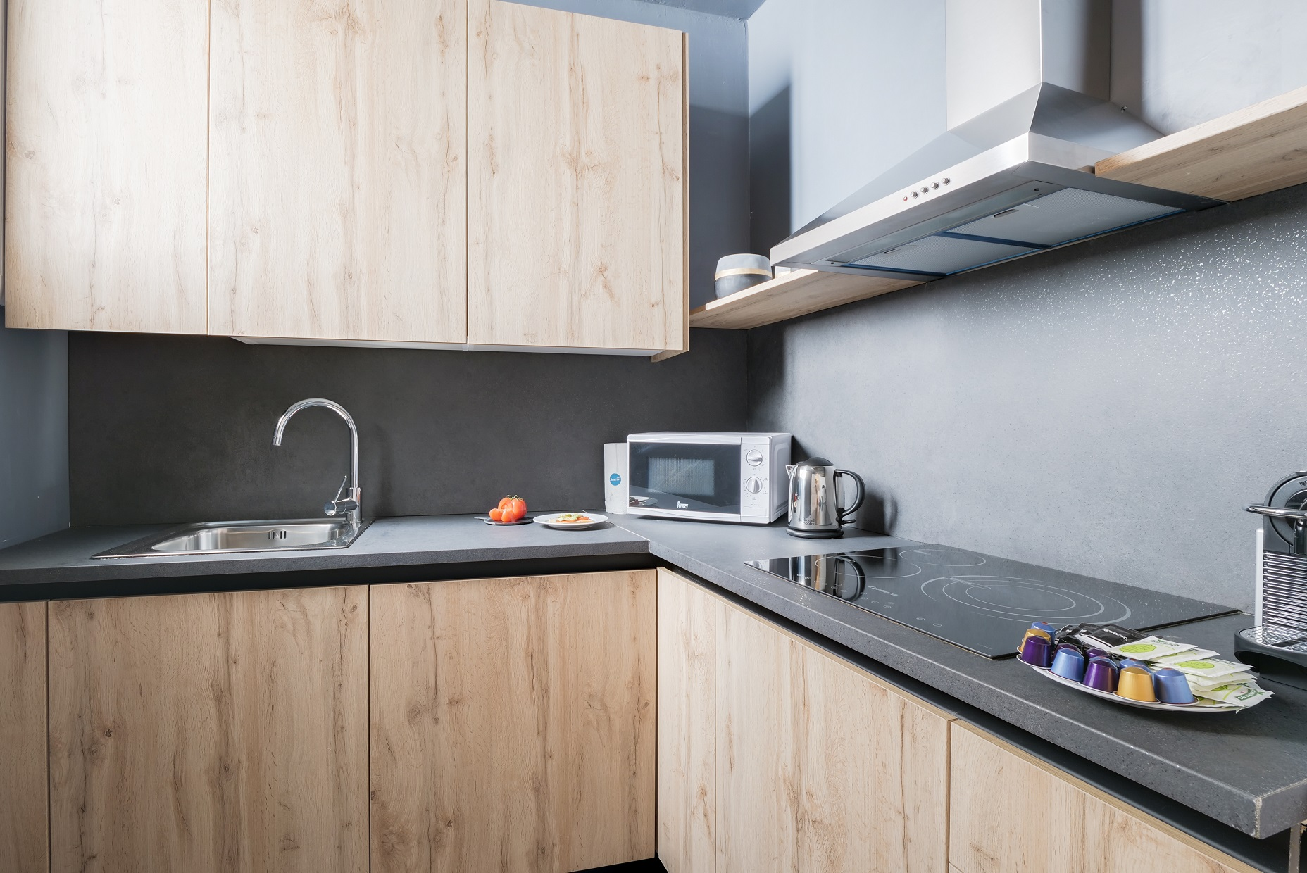 Kitchen at Rocafort Apartments