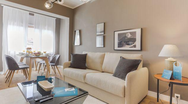 Living room at Rocafort Apartments
