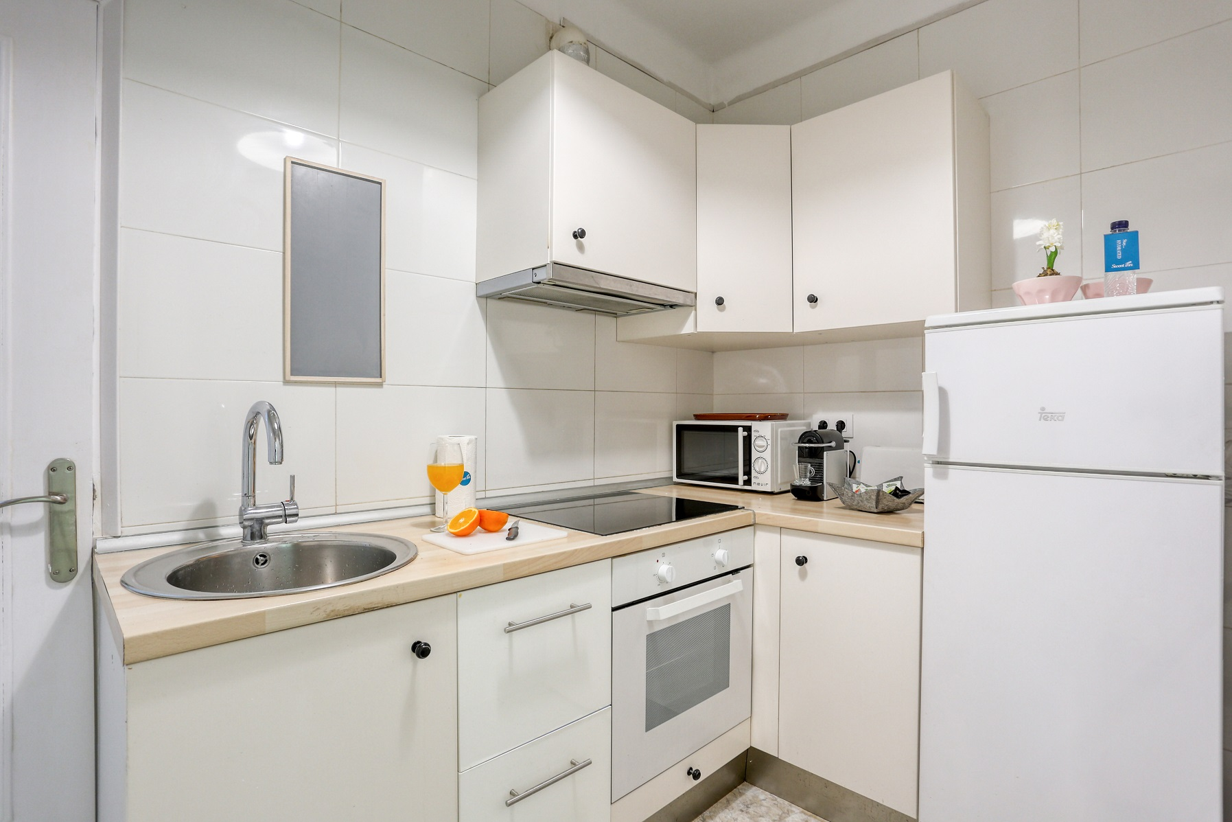 Kitchen space at Rocafort Apartments