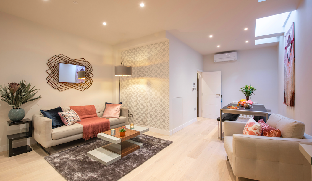 Living room at Kensington High Street Serviced Apartments