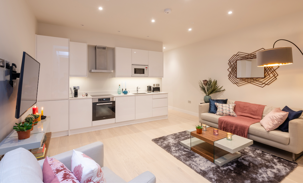 Kitchen at Kensington High Street Serviced Apartments