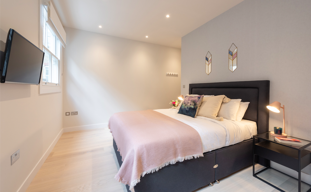 Bedroom at Kensington High Street Serviced Apartments
