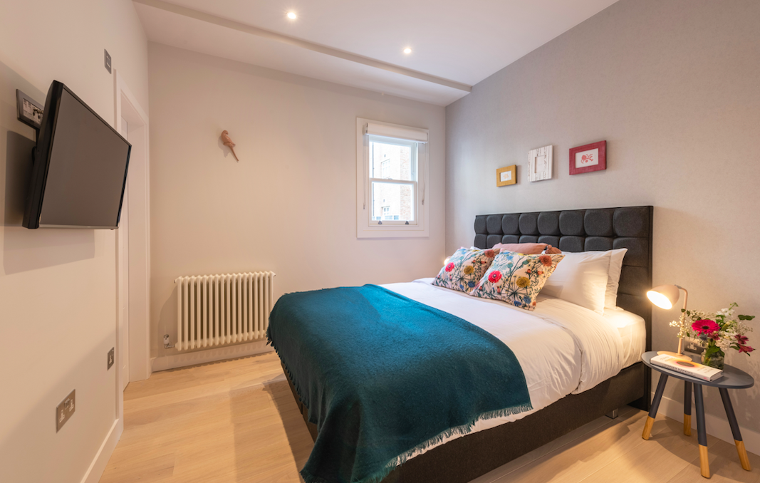 Stylish bedroom at Kensington High Street Serviced Apartments