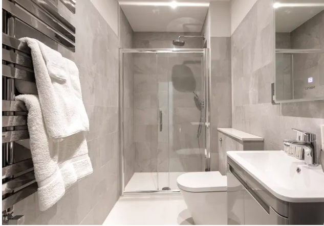 Shower at Kensington High Street Serviced Apartments