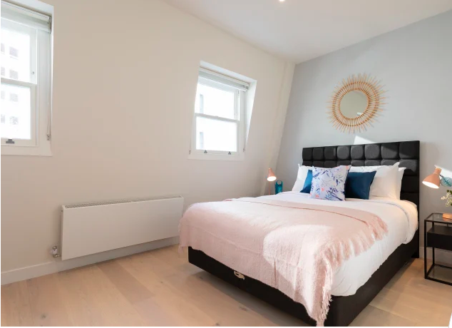 Large bedroom atKensington High Street Serviced Apartments
