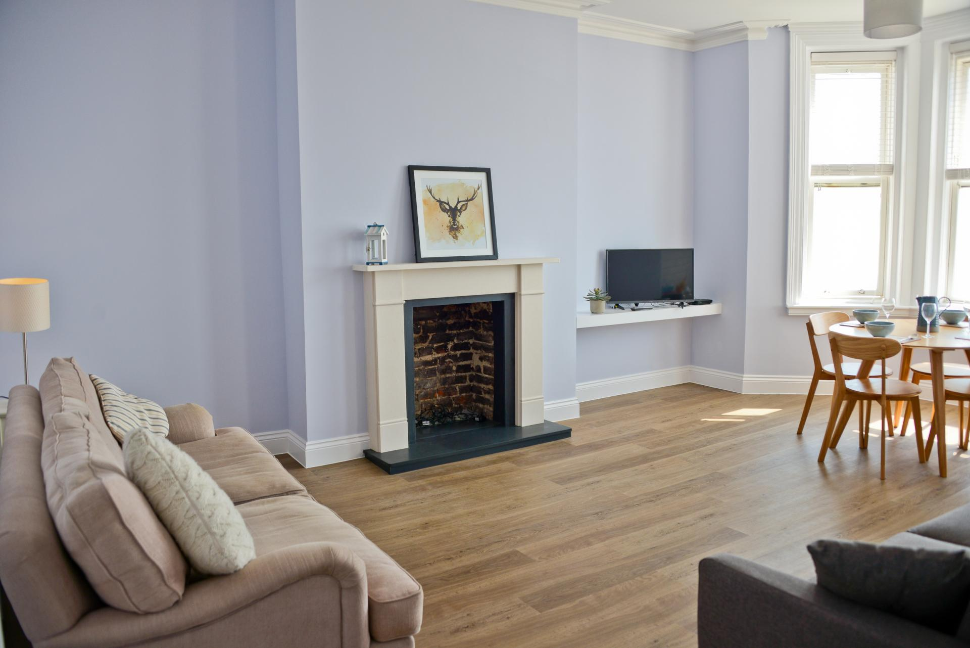 Spacious living area at Seaview Serviced Apartment