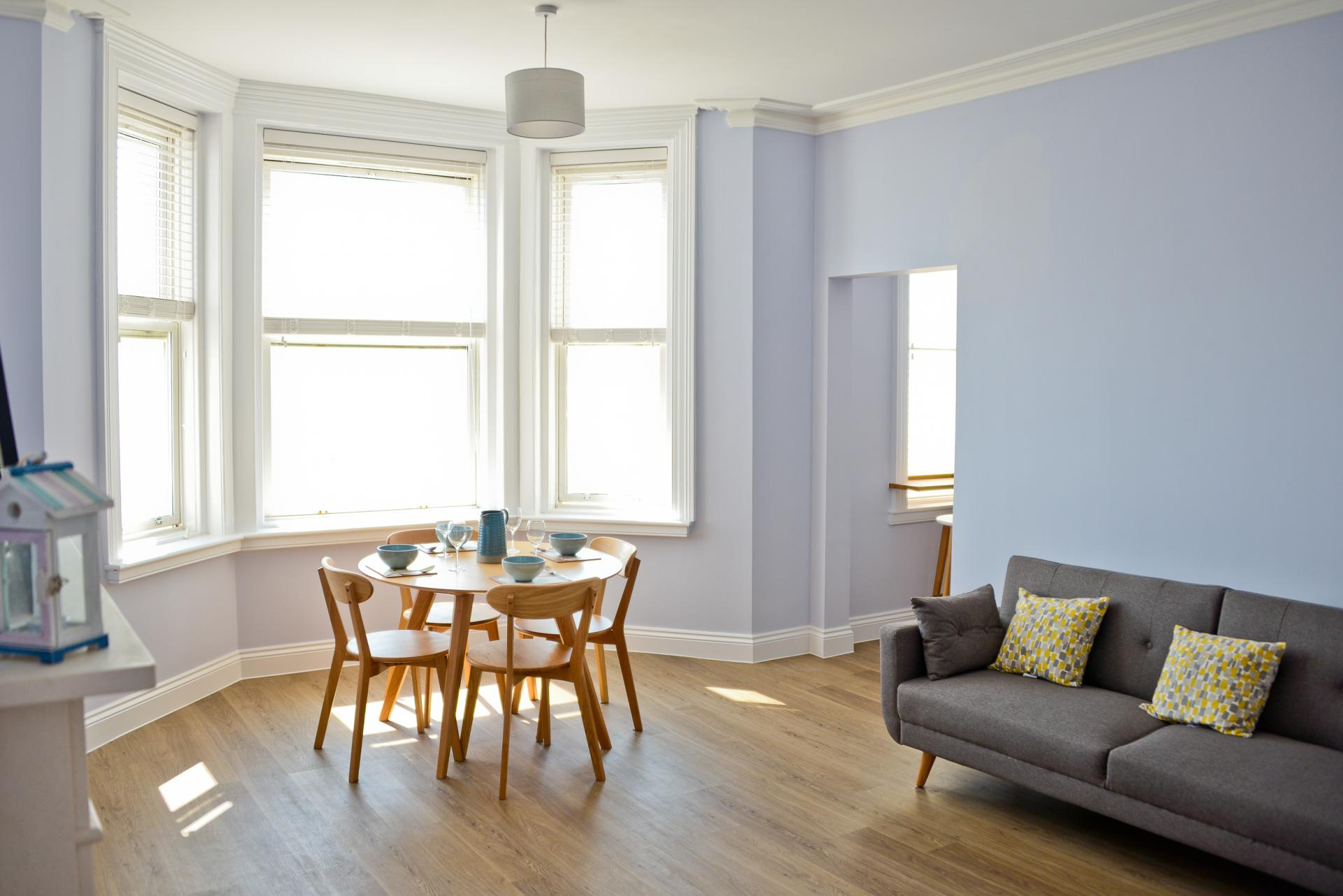 Bright living room at Seaview Serviced Apartment