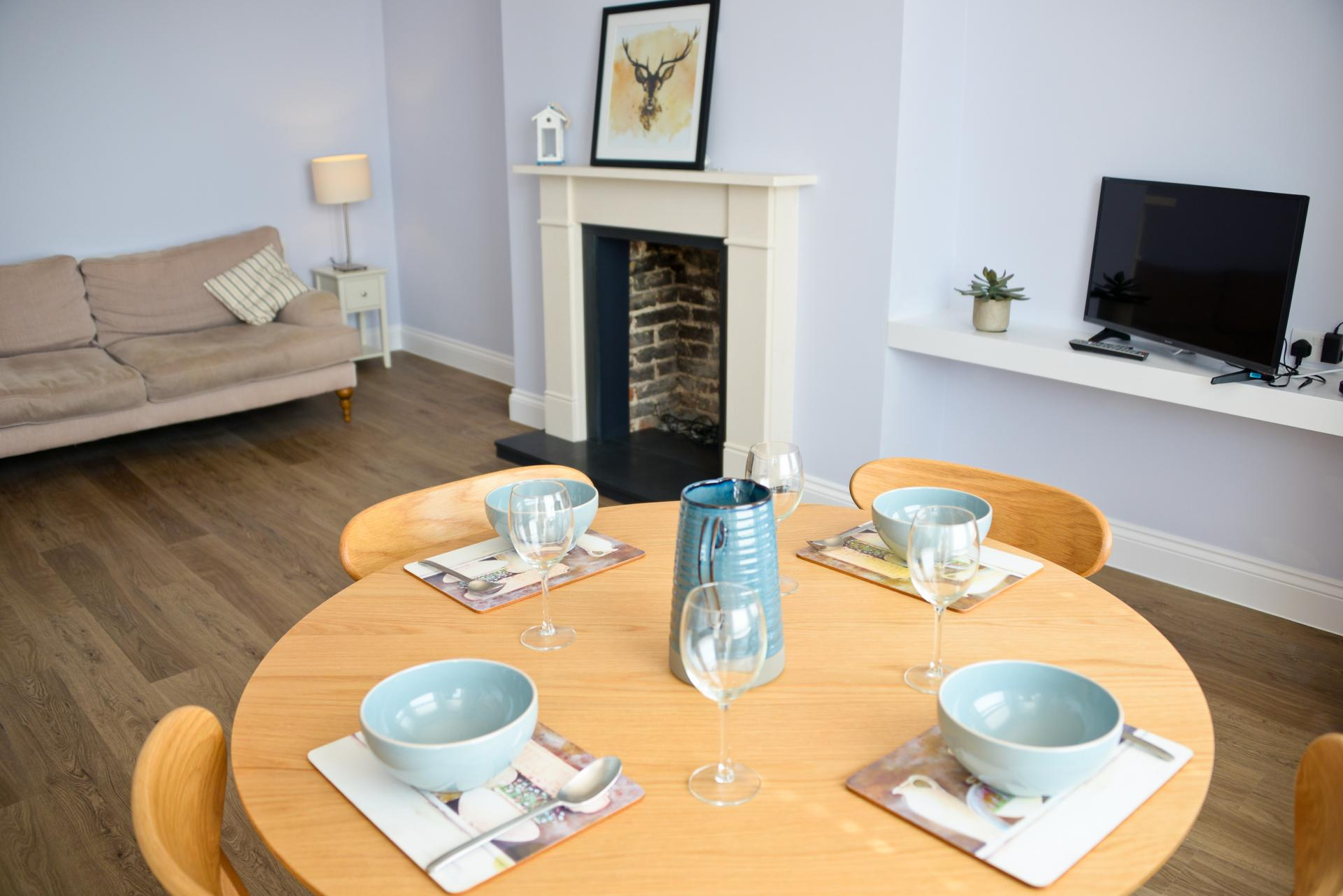 Dining table at Seaview Serviced Apartment