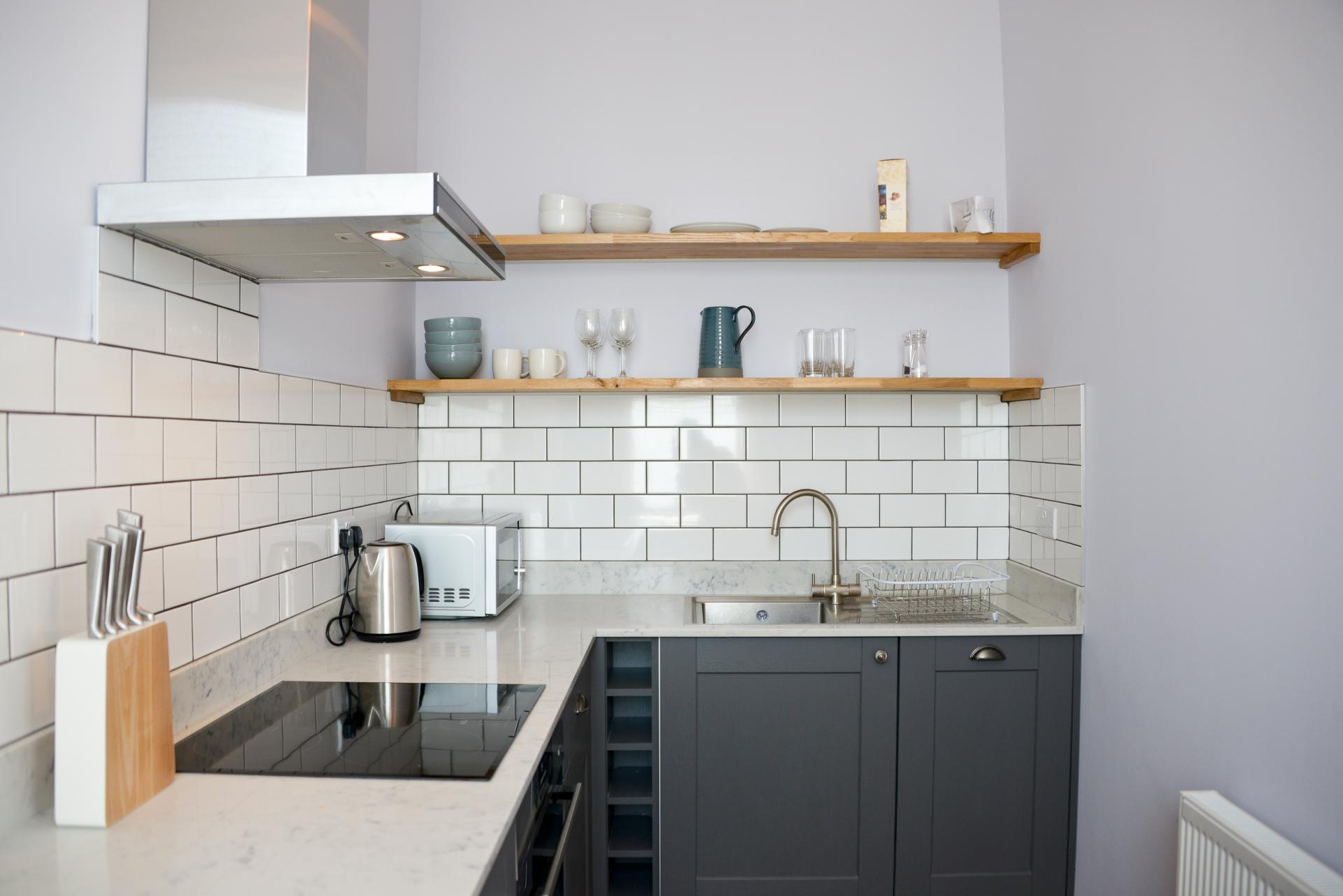 Kitchen at Seaview Serviced Apartment