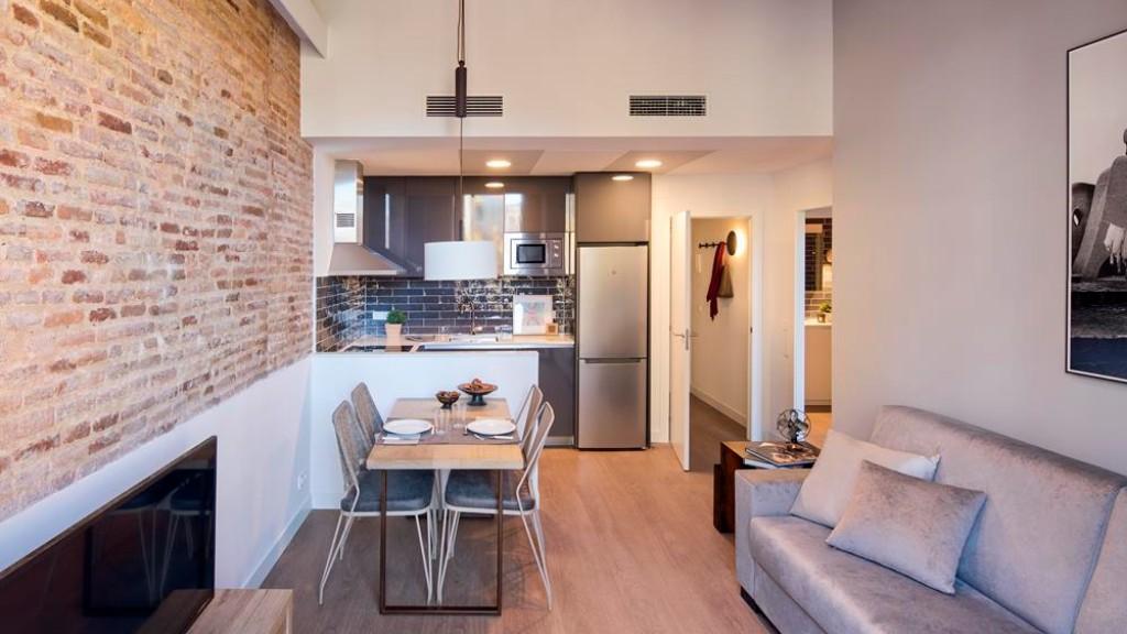Living room at Pau Claris One Apartment, Eixample, Barcelona