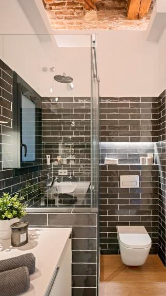 Bathroom at Pau Claris One Apartment, Eixample, Barcelona