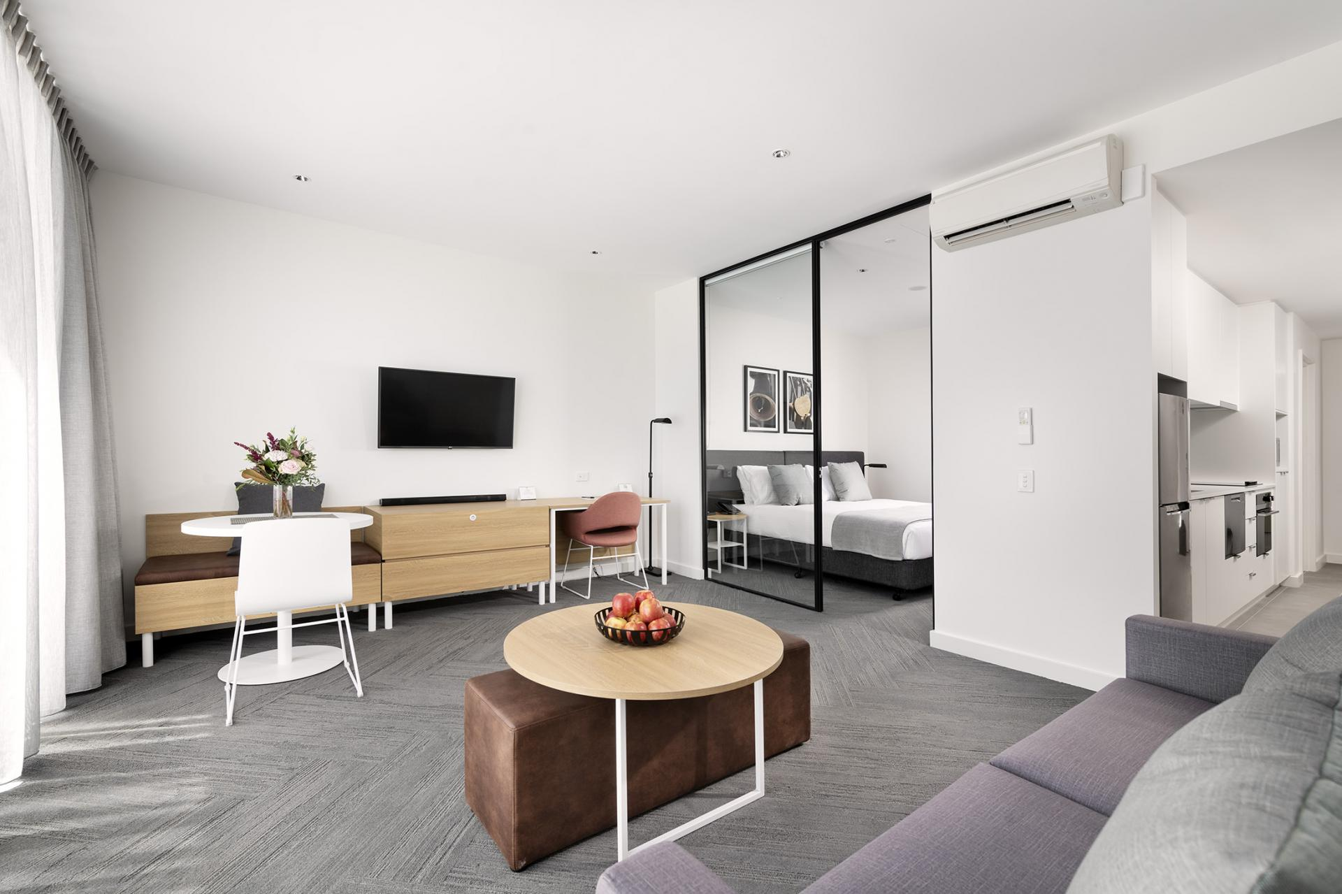 Living room at Quest South Perth Foreshore
