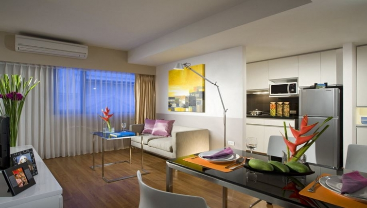 Gorgeous living area of Citadines Sukhumvit 23 Apartments