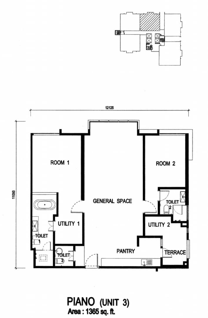 3rd floor plan at Jazz Serviced Suites