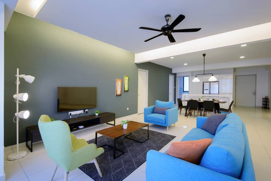 Bright living room at Jazz Service Suites