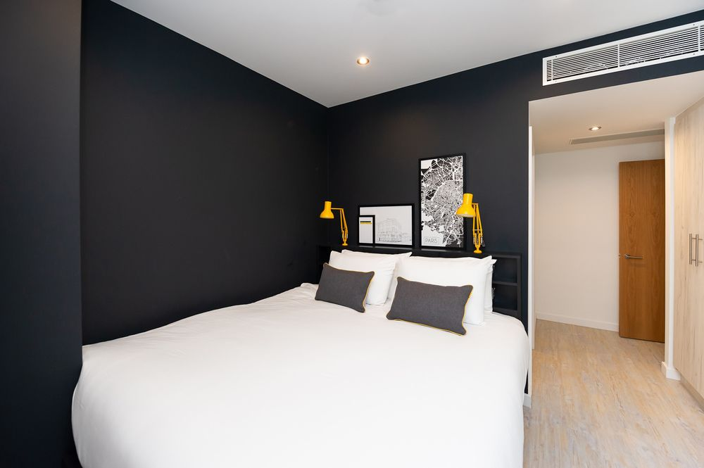 King size bed at Staycity Aparthotels Paris Marne La Vallee, Centre, Bailly-Romainvilliers