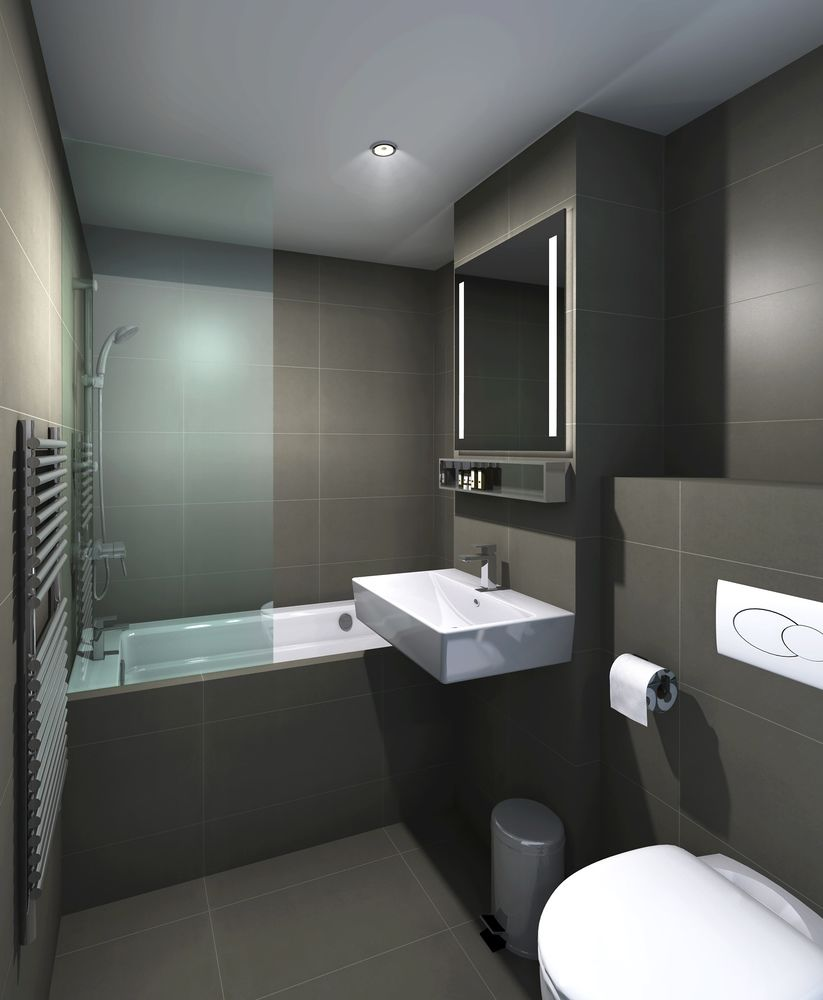 Sleek bathroom at Staycity Aparthotels Paris Marne La Vallee, Centre, Bailly-Romainvilliers