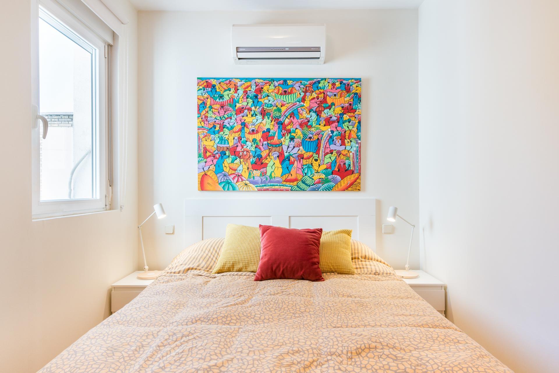 Bedroom at Bright Salamanca Apartment