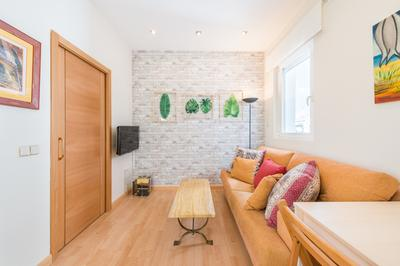 Living area at Bright Salamanca Apartment