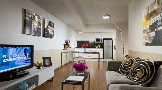Modern living area in Citadines Sukhumvit 8Apartments