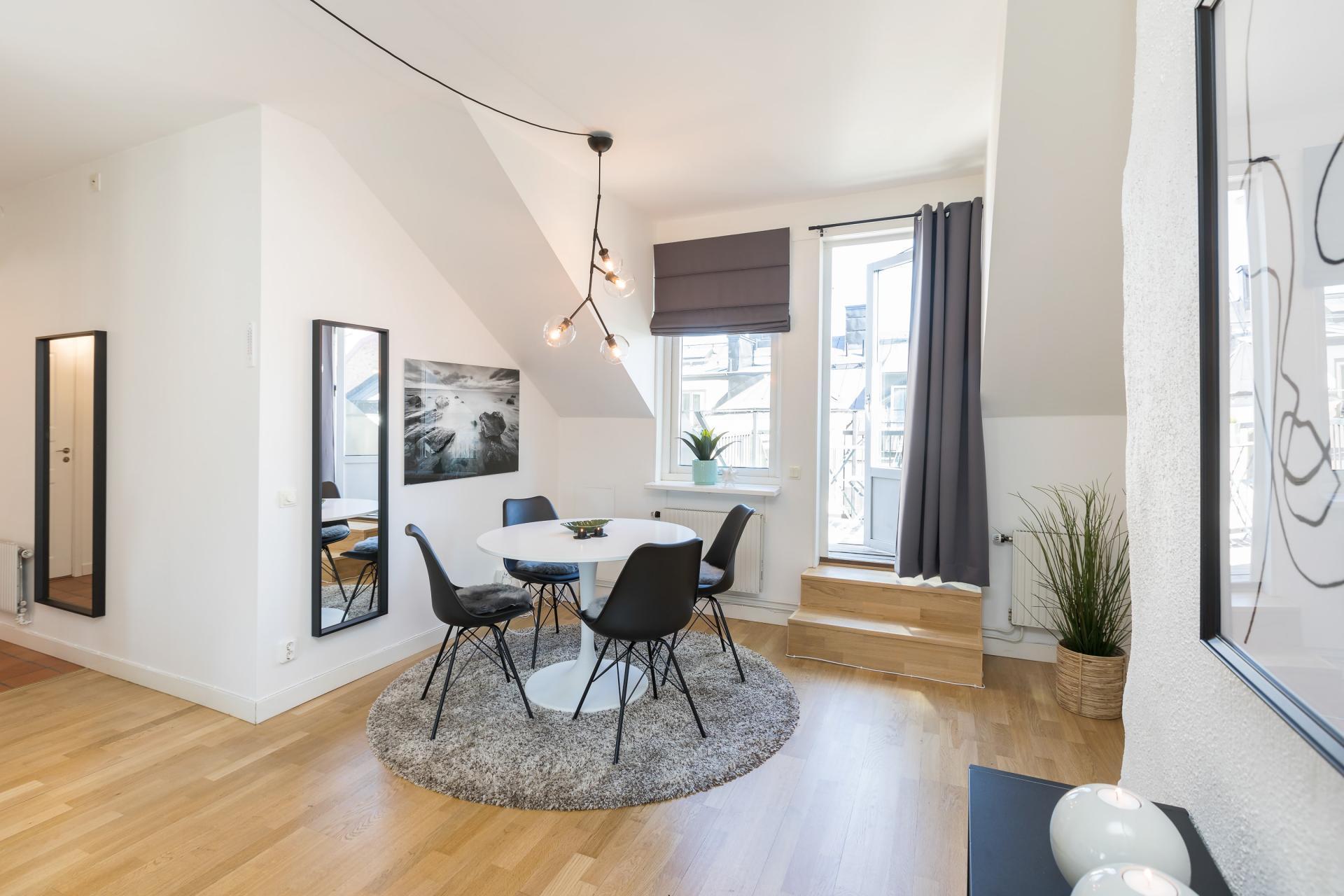 Dining area at Nybergsgatan Apartments