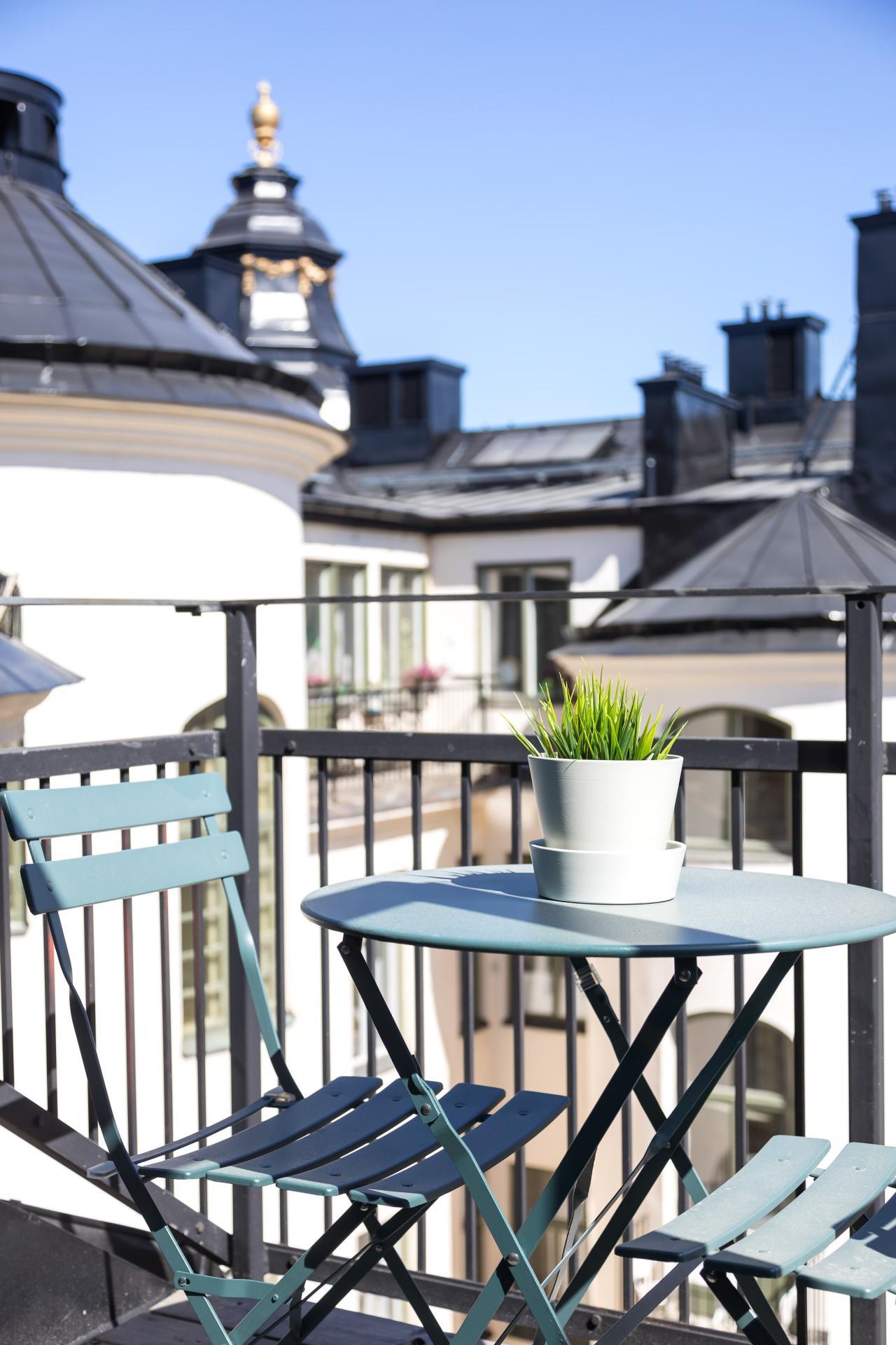 Balcony view at Nybergsgatan Apartments